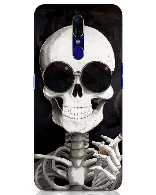 Shop Smoking Skull Oppo F11 Mobile Cover-Front