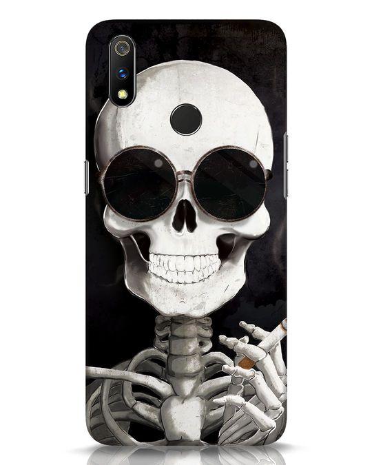 Shop Smoking Skull Realme 3 Pro Mobile Cover-Front