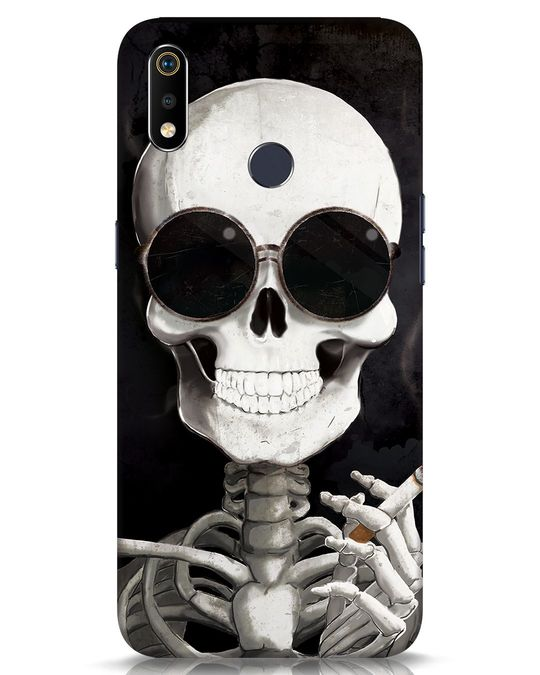 Shop Smoking Skull Realme 3i Mobile Cover-Front