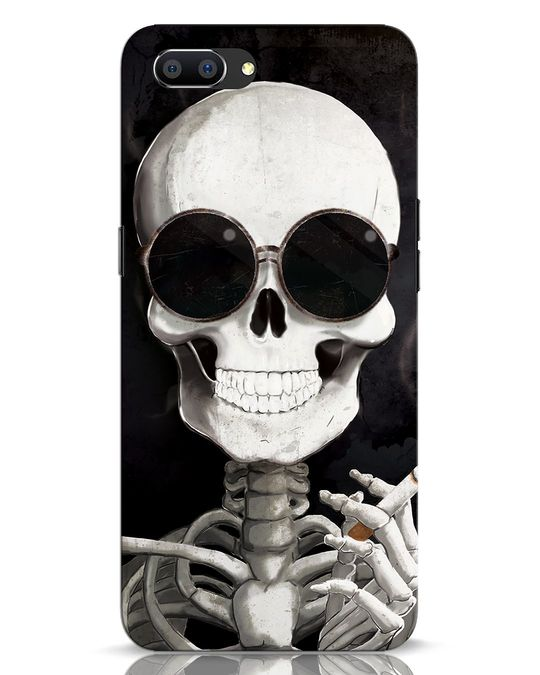 Shop Smoking Skull Realme C1 Mobile Cover-Front