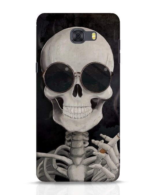 Shop Smoking Skull Samsung Galaxy C9 Pro Mobile Cover-Front
