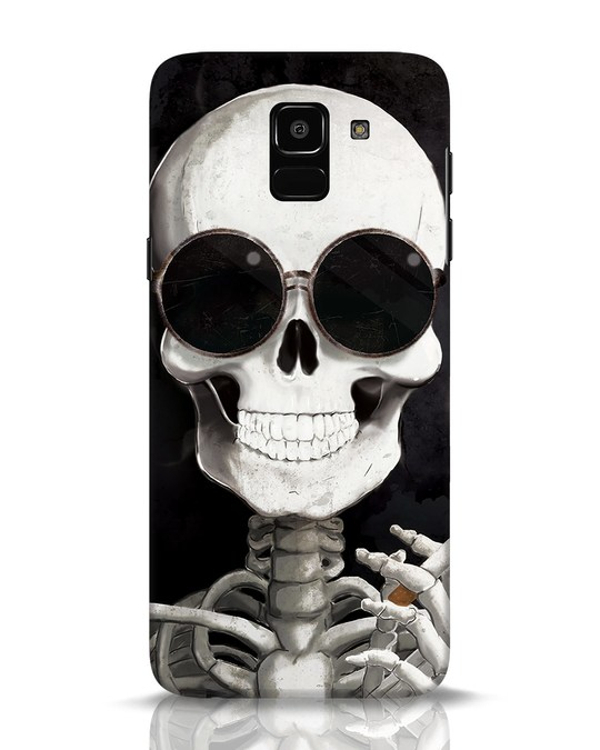 Shop Smoking Skull Samsung Galaxy J6 Mobile Cover-Front