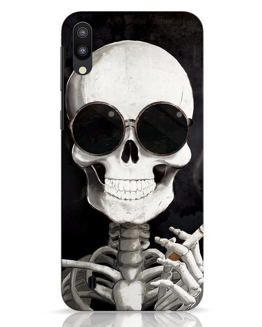 Shop Smoking Skull Samsung Galaxy M10 Mobile Cover-Front