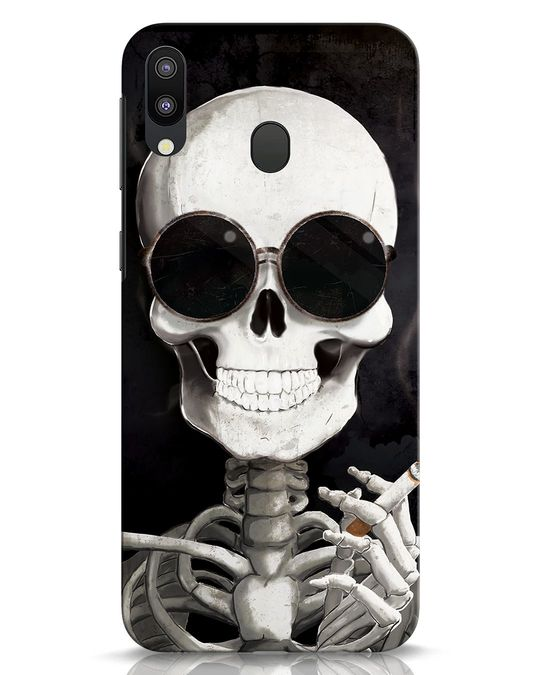 Shop Smoking Skull Samsung Galaxy M20 Mobile Cover-Front