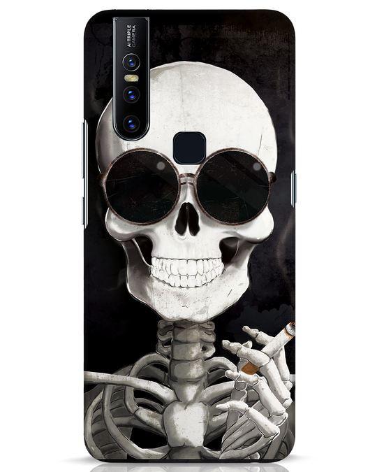 Shop Smoking Skull Vivo V15 Mobile Cover-Front