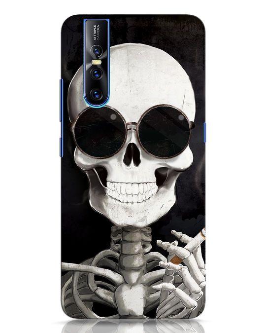 Shop Smoking Skull Vivo V15 Pro Mobile Cover-Front