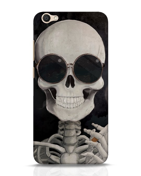 Shop Smoking Skull Vivo V5 Mobile Cover-Front
