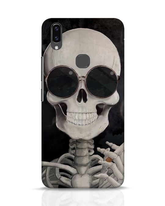 Shop Smoking Skull Vivo V9 Mobile Cover-Front