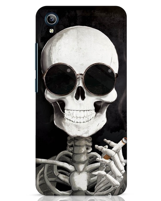 Shop Smoking Skull Vivo Y91i Mobile Cover-Front