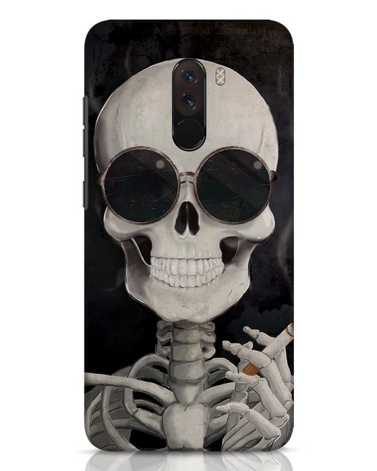 Shop Smoking Skull Xiaomi POCO F1 Mobile Cover-Front