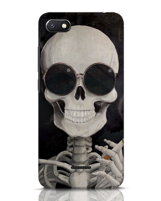 Shop Smoking Skull Xiaomi Redmi 6A Mobile Cover-Front
