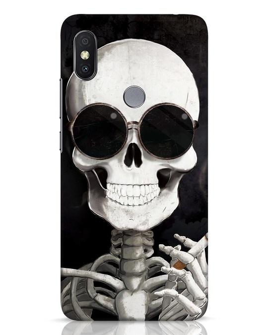Shop Smoking Skull Xiaomi Redmi Y2 Mobile Cover-Front