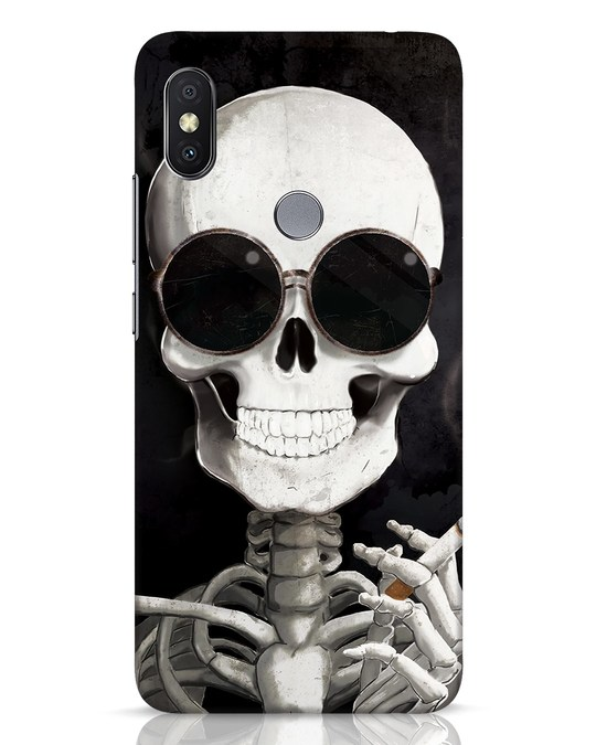 Shop Smoking Skull Xiaomi Redmi Y2 Mobile Cover-Front