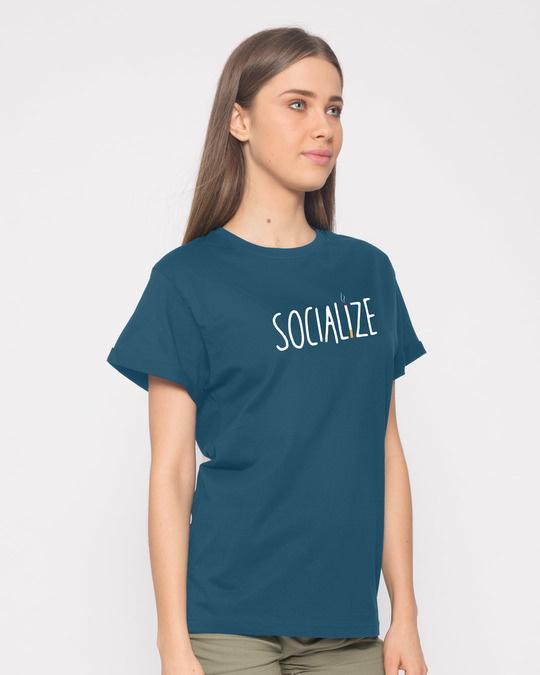 Shop Smoklize Boyfriend T-Shirt-Back