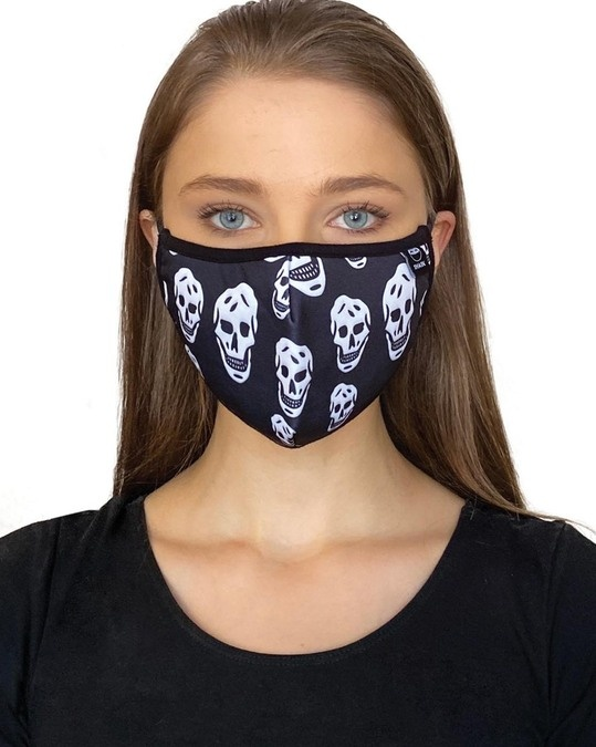 Shop Black Grey Camo Skull Bundle Combo Mask-Full