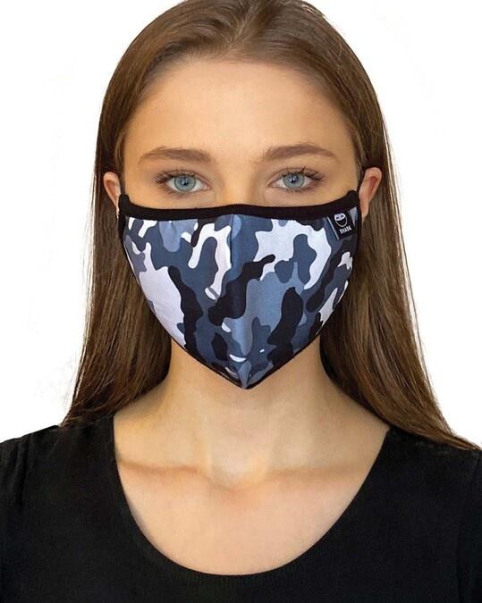 Shop Blue Camo Black Skull Bundle Combo Mask-Back