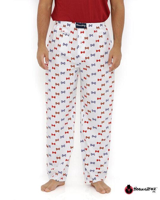 Shop Smugglerz Bows White Pyjamas-Front
