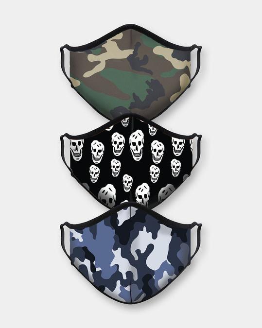 Shop Camo Skull Bundle Combo Mask-Front