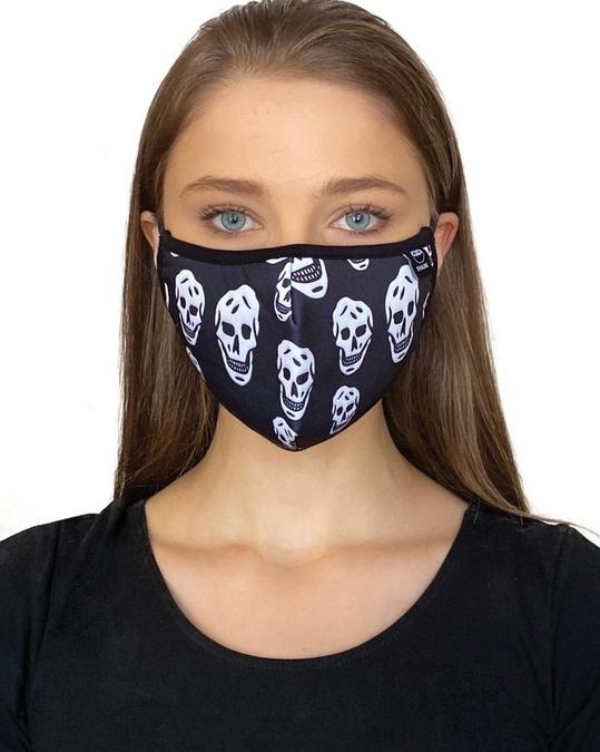 Shop Grey Black Skull Bundle Combo Mask-Full