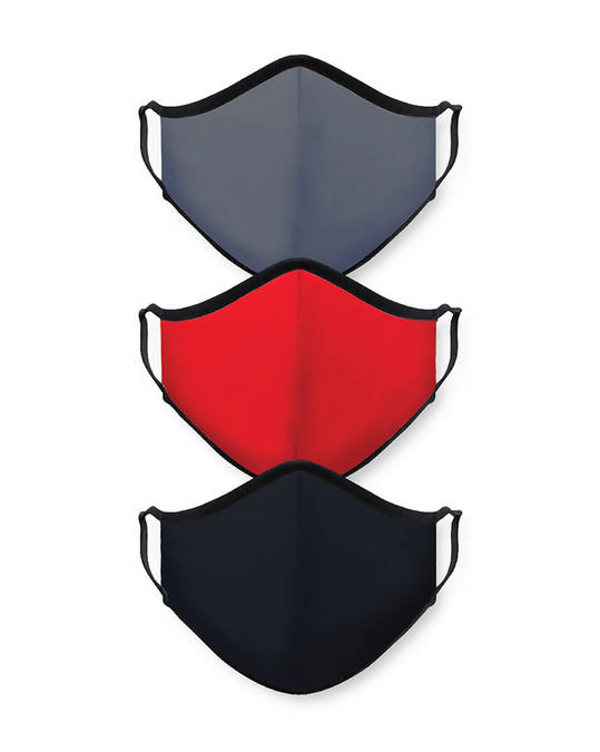 Shop Grey Red Black Bundle Combo Mask-Front