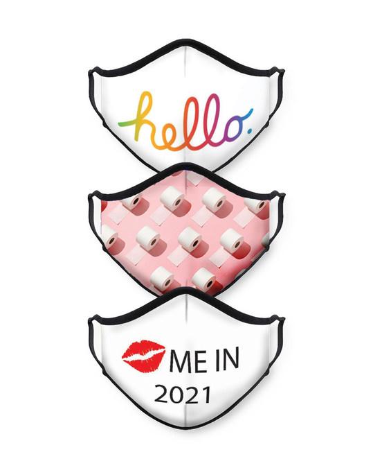 Shop Hello Toilet Kiss Me Bundle Combo Mask-Front