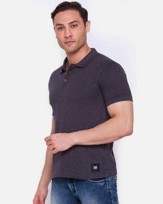Shop Inc. Men's Armor Polo T Shirt Charcoal-Back