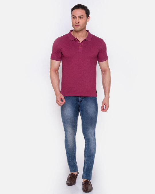 Shop Inc. Men's Armor Polo T Shirt Maroon