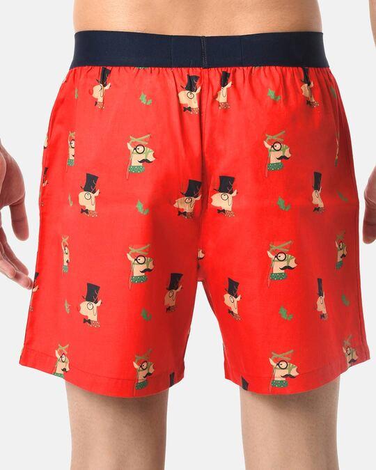 Shop Smugglerz Men's x'mas-reindeer-boxer-red-Full