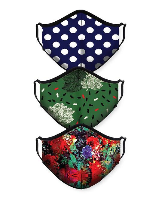 Shop Polka Forest Flower Bundle Combo Mask-Front