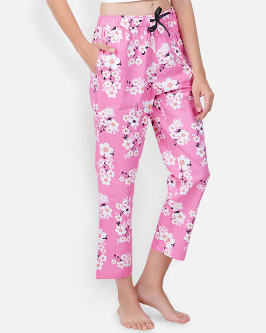 Shop Women's Pyjamas Pink Flower-Back
