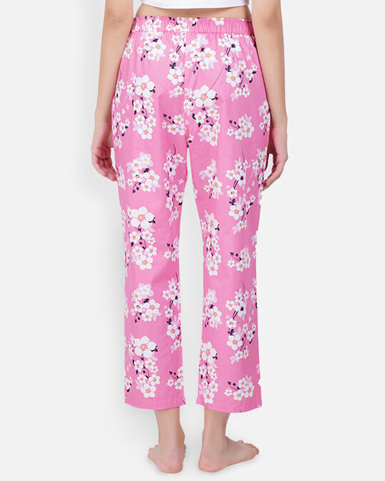 Shop Women's Pyjamas Pink Flower-Full