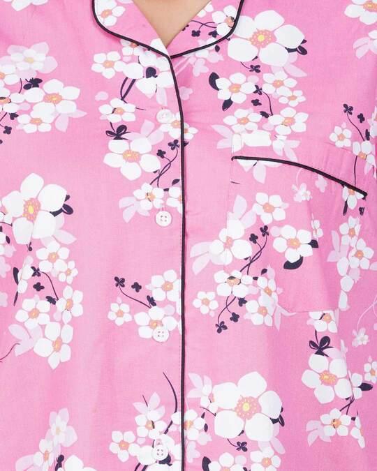 Shop Women's Sleepshirt Pink Flower