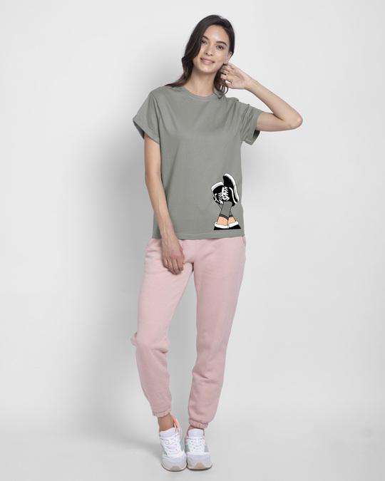 Shop Sneaker Girl Boyfriend T-Shirt-Full