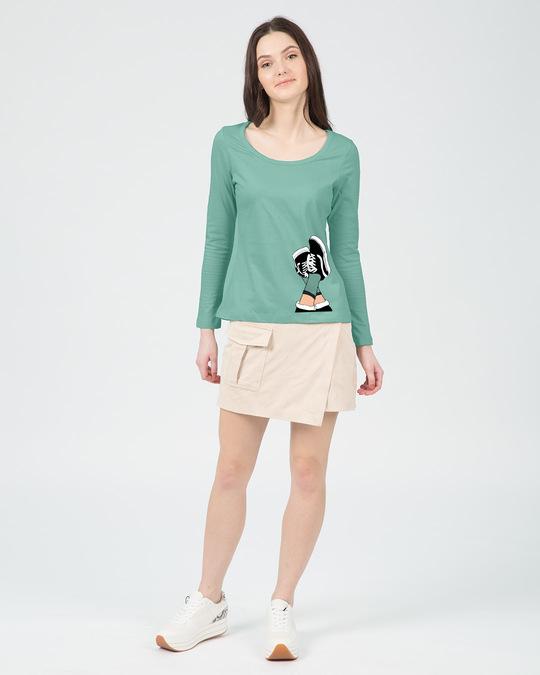 Shop Sneaker Girl Scoop Neck Full Sleeve T-Shirt-Design