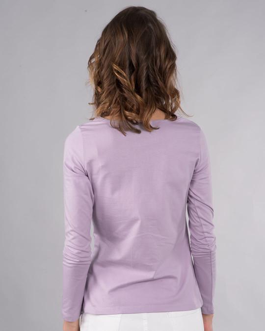 Shop Sneaker Girl Scoop Neck Full Sleeve T-Shirt-Back