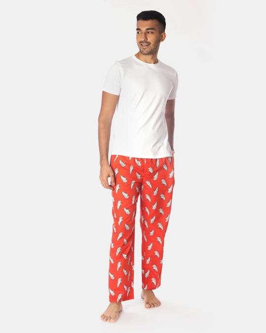 Shop Smugglerz Sneakers Pyjamas Red-Full