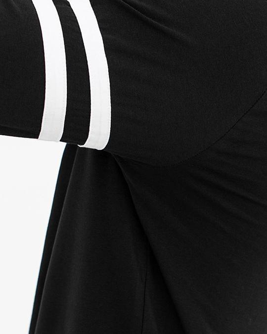 Shop Black Crew Neck Cotton 4 Way Stretch T Shirt