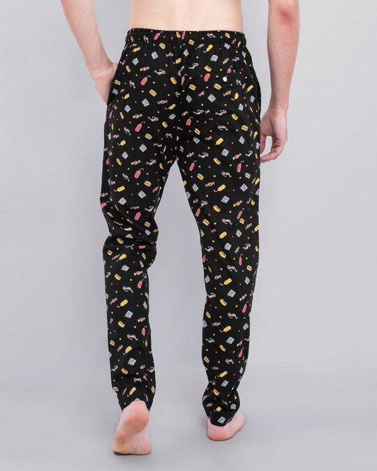 Shop Snitch Black Playful Pyjama-Back