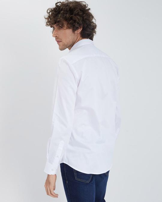 Shop Caspian Tiger White Satin Shirt-Back