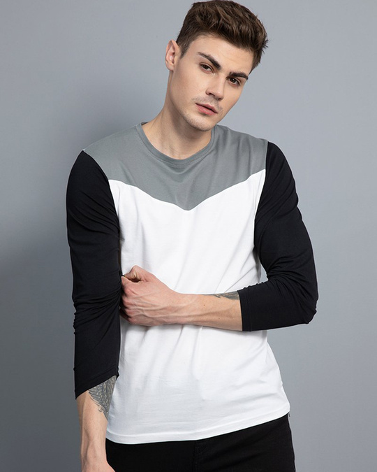 Shop Convivial White Full Sleeves T Shirt-Front