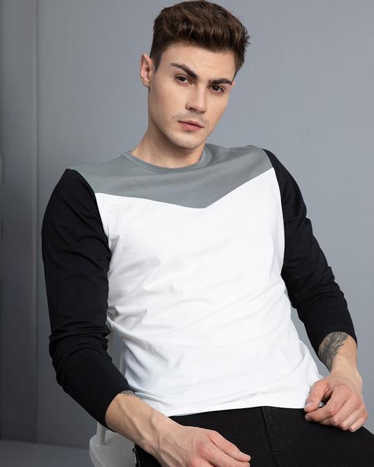 Shop Convivial White Full Sleeves T Shirt-Full