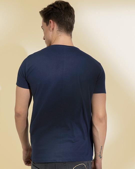 Shop Crazy Navy Graphic T Shirt-Design