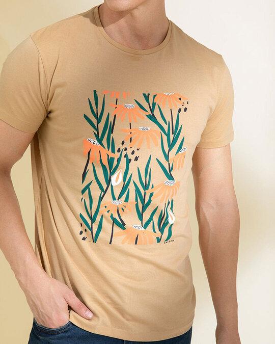 Shop Daffodil Sand Beige Graphic T Shirt-Full