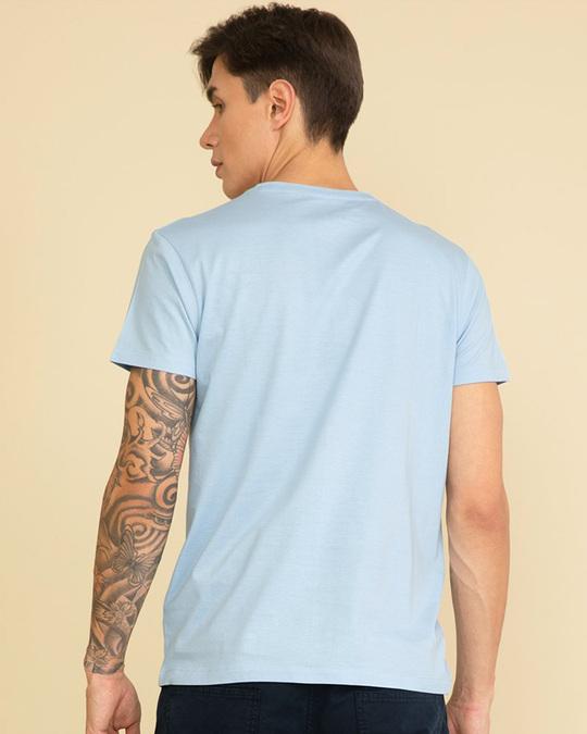 Shop Fingerprint Cool Blue Graphic T Shirt-Design