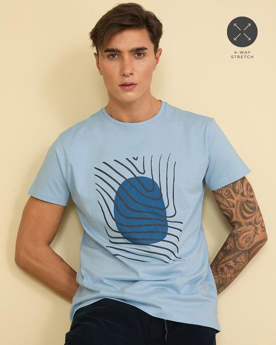 Shop Fingerprint Cool Blue Graphic T Shirt-Full