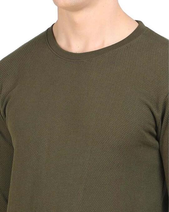 Shop Green Popcorn Full Sleeve Cotton T Shirt