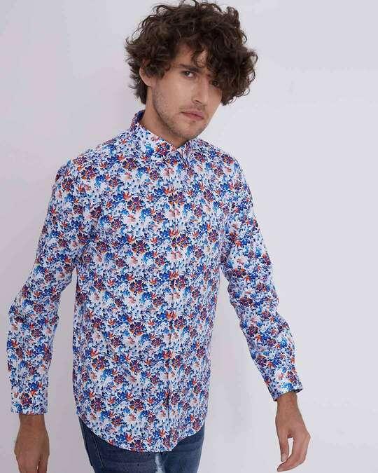 Shop Impressionist Print Shirt-Full