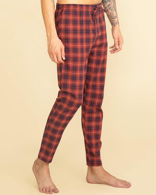 Shop Laze Brick Red Pyjama-Back