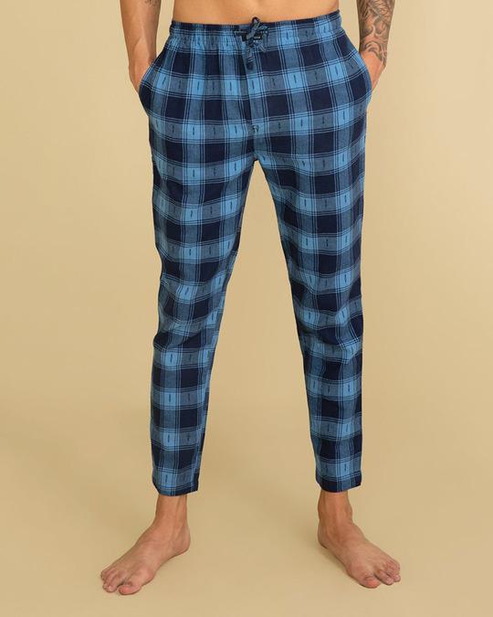 Shop Laze Caralina Blue Pyjama-Front