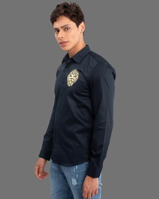 Shop Masai Lion Navy Full Sleeves Shirt-Back
